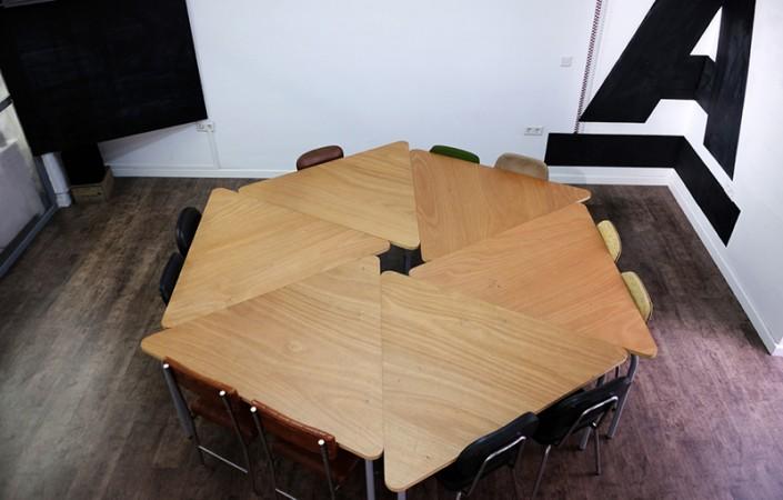 Zona de trabajo para las sesiones formativas